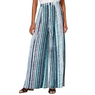 Bar III Striped Wide Leg Pants