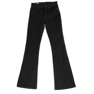 Polo Ralph Lauren NEW Black Womens Size 32 High Waisted Flare Jeans