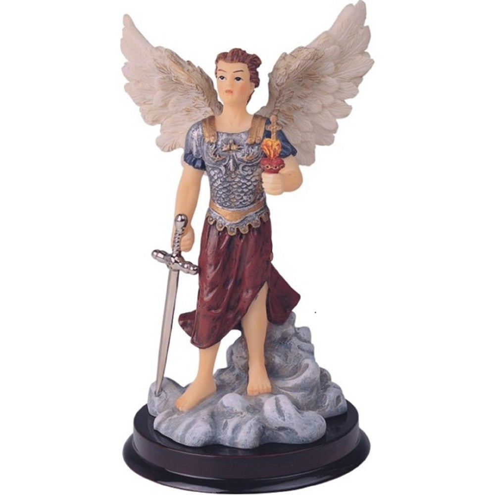 Q Max 6 H Archangel Jehudiel Statue Saint Jegudiel The Angel Of Work Holy Figurine Religious Decoration On Sale Overstock 32433405