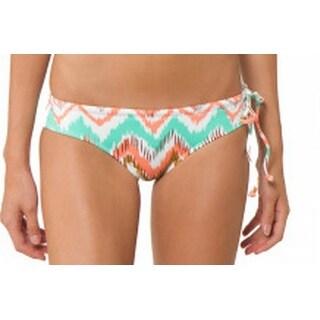 O'Neill NEW Beige Women's Size Large L Chevron Side Tie Bikini Bottom