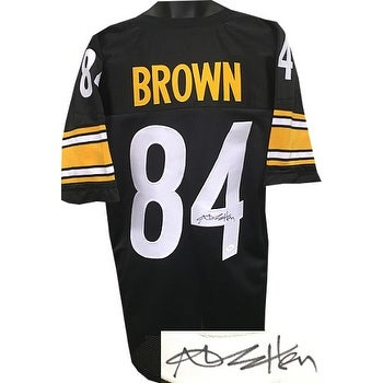 new product 518f5 ca8f3 Antonio Brown signed Black Custom Stitched Pro Style Football Jersey JSA  Witnessed Hologram