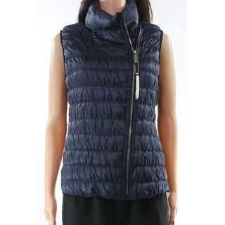 Calvin Klein NEW Blue Women's Size Small S Full-Zip Puffer Jacket Vest