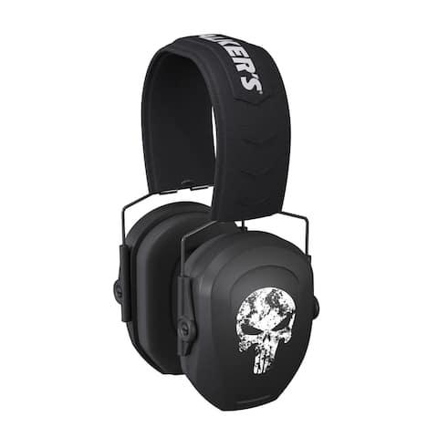 Walker's Razor Slim Passive Safety Ear Protectors (Punisher Skull)