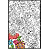 "Joy Of Coloring Adult Coloring Poster 24""X36"" 1/Pkg-Flower Garden"