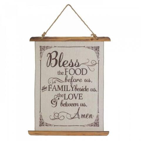 Bless Us Linen Wall Decor