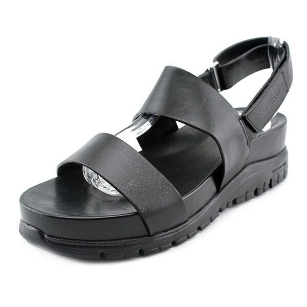 aa365f9fe1e Shop Cole Haan Zero Grand Slides Women Black Sandals - Free Shipping ...