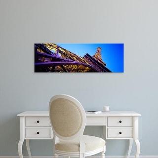 Easy Art Prints Panoramic Image 'View of Las Vegas Replica Eiffel Tower, Paris Las Vegas, Las Vegas, Nevada' Canvas Art