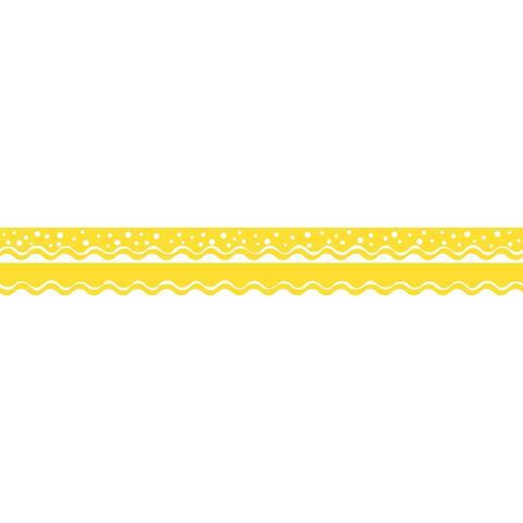 Happy Lemon Yellow Border Double