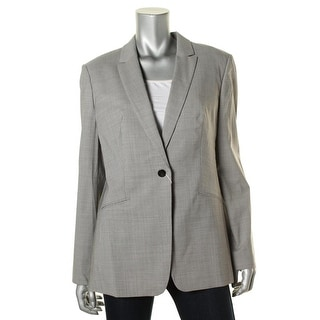 BOSS Hugo Boss Womens Jabina2 Front Button One-Button Suit Jacket - 12