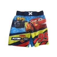 Disney Little Boys Multi Color Cars Swim Shorts