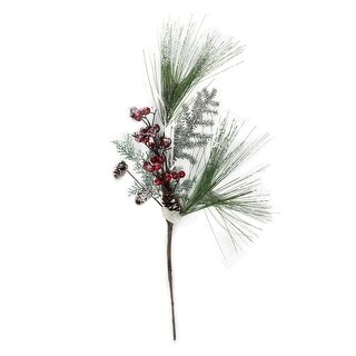 """26"""" Festive Red Berries, Pine Cones and Greenery Artificial Christmas Spray"""