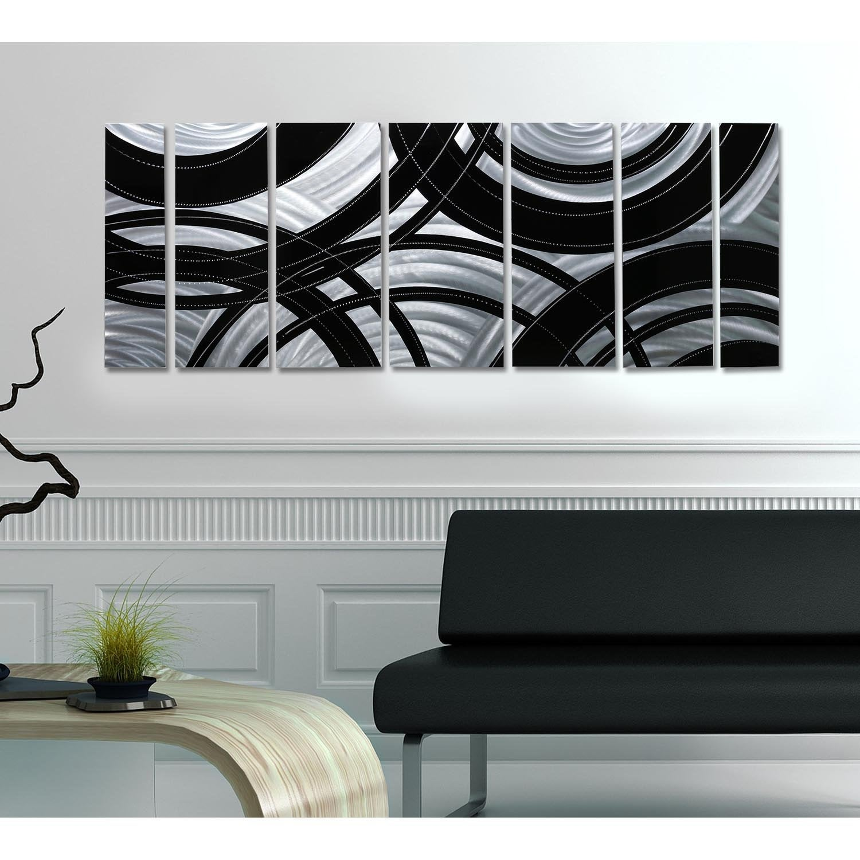 Statements2000 Abstract Modern Metal Wall Art Panels Silver Black Decor By Jon Allen Crossroads Overstock 12447212
