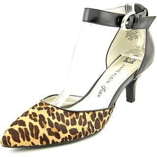 Anne Klein Fayza Women Pointed Toe Leather Multi Color Heels