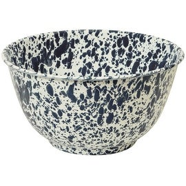 "Crow Canyon D23NVM Large Salad Bowl, 10"" D, Navy Blue Marble"