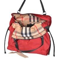 93df51d4d511 Shop Burberry Birch Grey Nylon Nova Check Packable Purse Bag Tote ...