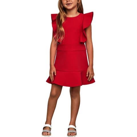 BCBGirls Girls Party Dress Ruffled - Sangria