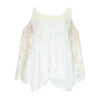 Cowgirl Tuff Western Shirt Womens Long Sleeve Cut Out Cream 100083