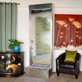 Bluworld Stainless Steel Gardenfall Fountain w/ Silver Mirror, 8-Foot