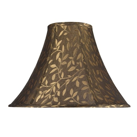 """Aspen Creative Bell Shape Spider Construction Lamp Shade in Brown (6"""" x 16"""" x 12"""")"""