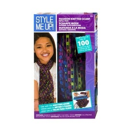 Style Me Up Fashion Knitted Scarf Refill Pack, Purple