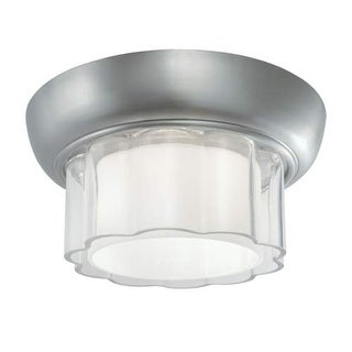 """Norwell Lighting 5655 Carousel Single Light 12"""" Wide Flush Mount Ceiling Fixture with White Shade"""