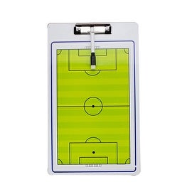 Soccer Double Sided Coach Tactical Board + Marker Pen Football Coaches Aids