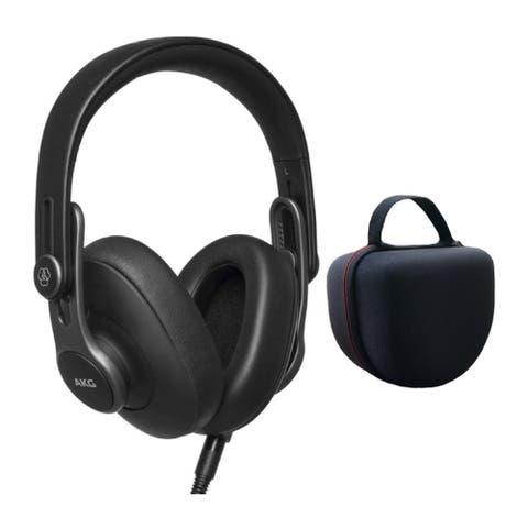AKG Pro Audio Over-Ear Studio Headphones Bundle w/ Headphone Case