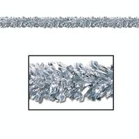 Pack of 12 Shiny Metallic Silver Foil Tinsel 6-Ply Christmas Garlands 15' - Unlit
