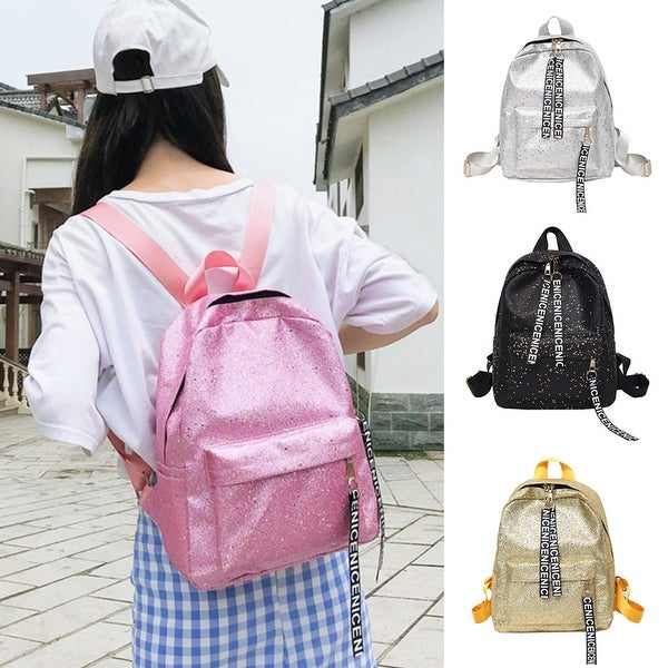 7dd3ed6ac7d6 ... Bags     Backpacks. Fashion Sequins Letters Faux Leather Women Student  Travel Casual School Backpack