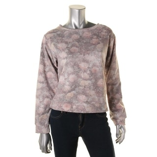 Sam & Lavi Womens Fleece Lined Floral Print Sweatshirt