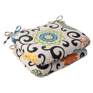 Amazing Set Of Waverly Sunnshade Summer Flower Outdoor Patio Seat Cushions  With Waverly Chair Pads