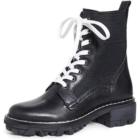 Rag and Bone Womens Shiloh Black Combat Boots