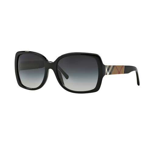 Burberry BE4160 34338G Black Plastic Square Sunglasses with 58mm Lens