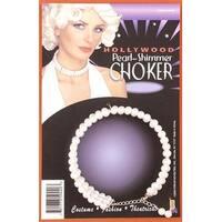 Pearl Costume Choker - White