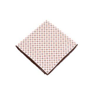 Brunello Cucinelli Brown & Orange Linen Pocket Square