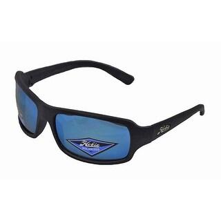 Hobie Malibu Sunglasses Satin Black Frame with Cobalt Mirror Polarized Lens