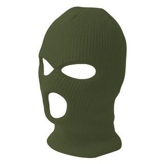 TopHeadwear's 3 Hole Face Ski Mask, Olive