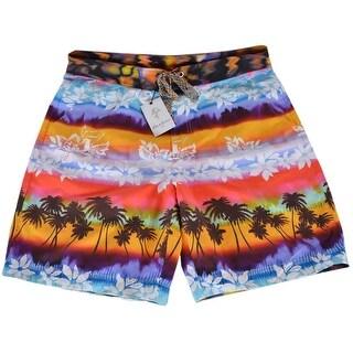Robert Graham Classic Fit EARTH ORBIT Tie Dyed Board Shorts Swim Trunks 34