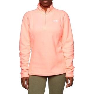 The North Face Women Glacier 1/4 Zip Fleece Neon Peach