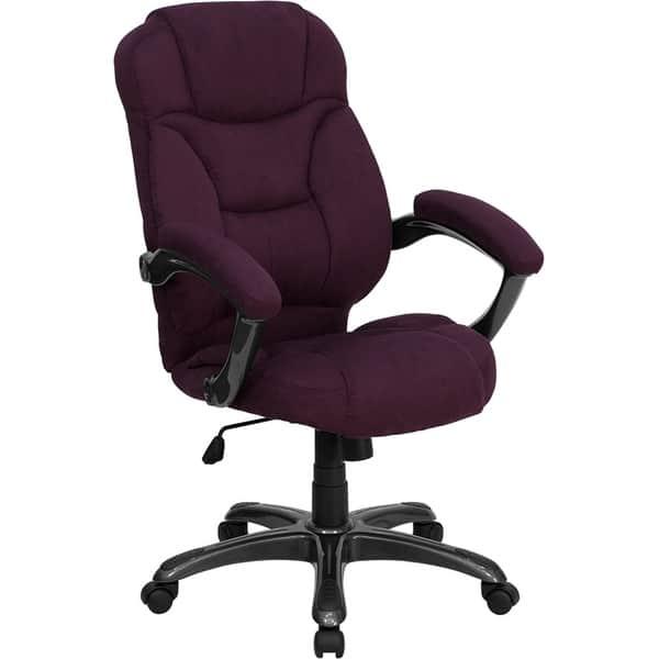 Magnificent Shop Aberdeen High Back Grape Microfiber Executive Swivel Pdpeps Interior Chair Design Pdpepsorg