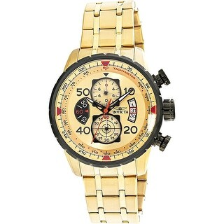 Invicta Men's Aviator Gold Stainless-Steel Diving Watch