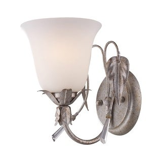 "Landmark Lighting 69000-1 Single Light Up Lighting 6"" Wide Bathroom Fixture from the Willoughby Collection"