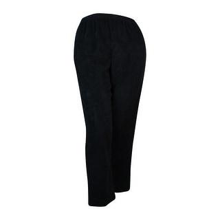 Alfred Dunner Women's Elastic Waist Proportioned Short Corduroy Pants