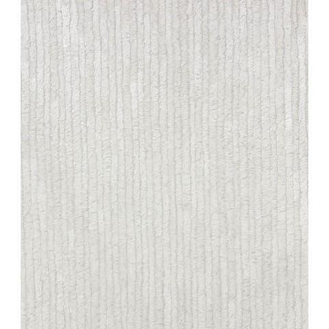 Down Off-White Stripe Wallpaper - 21in x 396in x 0.025in