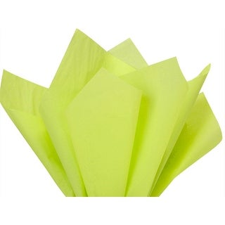 """Pack Of 480, Solid Leaf Green Tissue Paper 15 X 20"""" Sheet Half Ream Made From 100% Post Industrial Recycled Fibers Made In Usa"""
