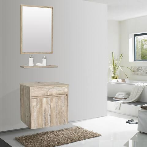 Two Doors Bathroom Vanity with Mirror
