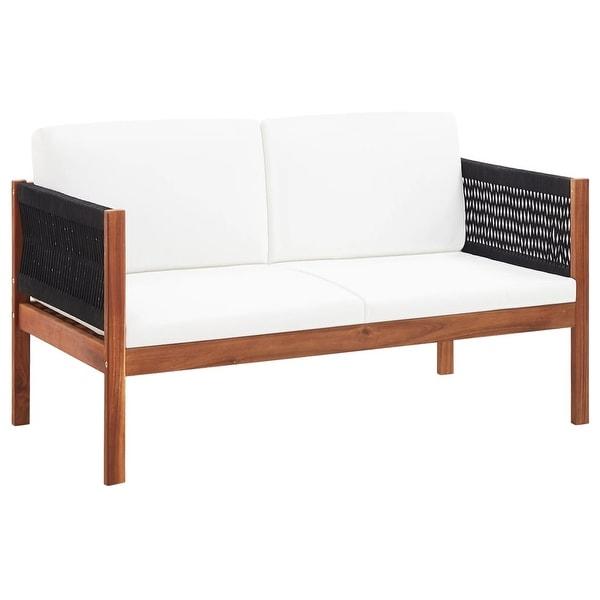 Shop vidaXL Garden Sofa 2-Seater Solid Acacia Wood ... on Safavieh Ransin id=97730