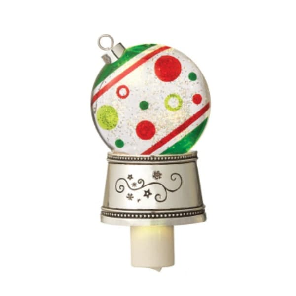"""7"""" Christmas Traditions Shimmer Dots Ornament Christmas Night Light - CLEAR"""