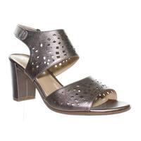 Naturalizer Womens E7344l3 Bronze Ankle Strap Heels Size 9.5