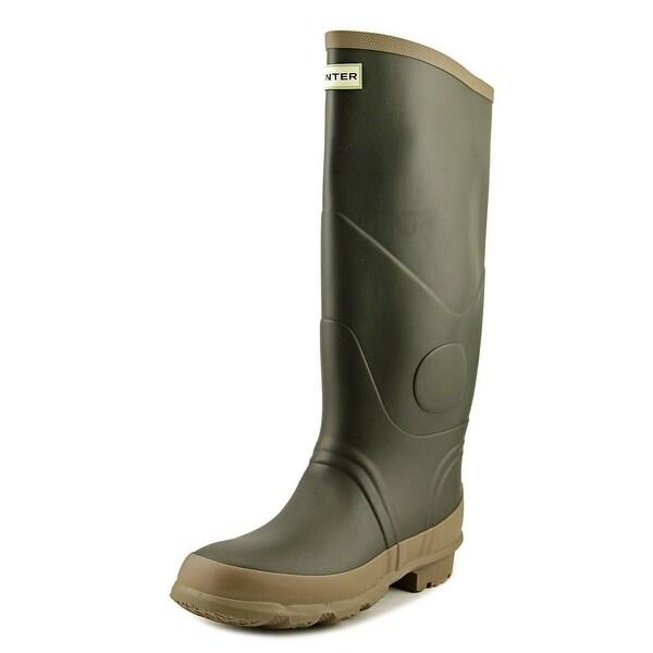 Hunter Argyll Bullseye Men Round Toe Synthetic Green Rain Boot